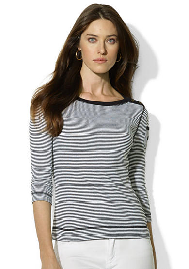 Lauren Ralph Lauren Three-Quarter-Sleeved Boatneck Shirt