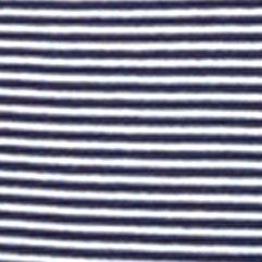 Women: Lauren Jeans Co. Tops: Marnier Navy/White Lauren Jeans Co. Three-Quarter-Sleeved Boatneck Shirt