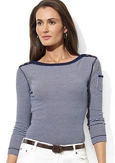Lauren Jeans Co. Three-Quarter-Sleeved Boatneck Shirt