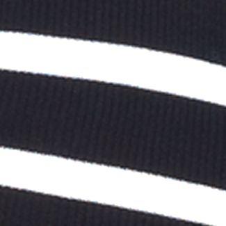 Lauren Jeans Co Sweaters: Black/White Lauren Jeans Co. Zip-Placket Crewneck