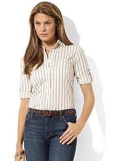 Lauren Jeans Co. Cotton Roll-Sleeve Shirt
