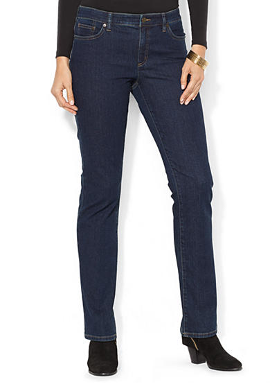 Lauren Jeans Co. Super-Stretch Modern Curvy Rinse-Wash Jeans