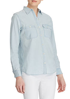 Lauren Ralph Lauren 2-Pocket Chambray Shirt
