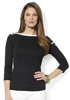 Lauren Jeans Co. Bateau Pocket Top