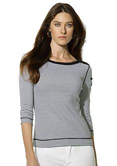 Lauren Jeans Co. Striped Bateau Pocket Top