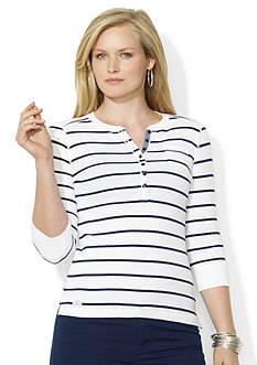 Lauren Jeans Co. Striped Pocket Henley