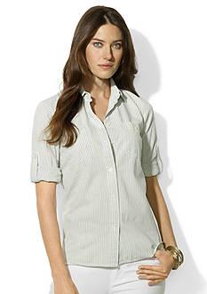 Lauren Jeans Co. Shirting-Stripe Roll-Tab Shirt