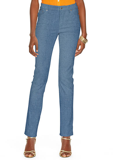 Lauren Jeans Co. Super-Stretch Heritage Straight Perry-Wash Jean