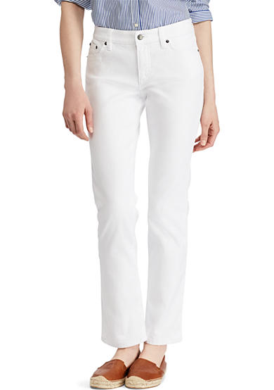 Lauren Ralph Lauren Super-Stretch Modern Curvy White-Wash Jean<br>