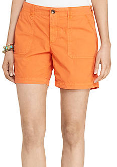 Lauren Jeans Co. Cotton Twill Shorts