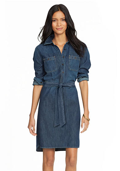 Lauren Ralph Lauren Long Sleeve Denim Dress