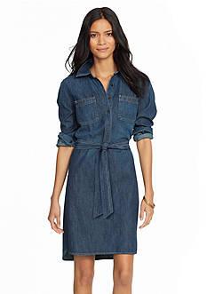 Lauren Jeans Co. Long Sleeve Denim Dress