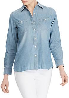 Lauren Jeans Co. Cotton Long-Sleeve Shirt