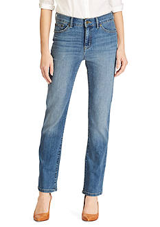 Lauren Jeans Co. Slimming Straight Jean<br>
