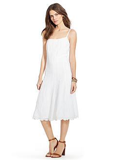 Lauren Jeans Co. Embroidered Cotton Dress