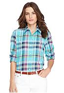 Lauren Jeans Co. Plaid Cotton Shirt