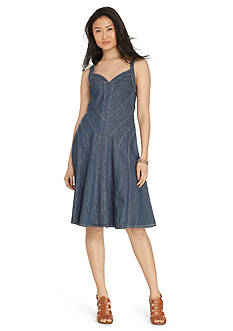 Lauren Jeans Co. Denim Fit-and-Flare Dress