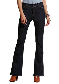 Lauren Jeans Co. High-Rise Flared Jeans