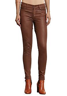 Lauren Ralph Lauren Premier Coated Skinny Jeans