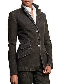 Lauren Jeans Co. Denim Three-Button Jacket