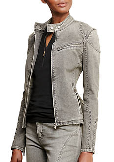 Lauren Jeans Co. Stretch Denim Moto Jacket