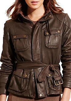 Lauren Jeans Co. Waxed Stretch Cotton Jacket