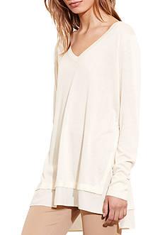 Lauren Jeans Co. Layered Silk-Blend Sweater