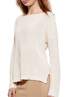 Lauren Jeans Co. Cotton-Blend Boat Neck Sweater