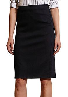 Lauren Jeans Co. Stretch Cotton Pencil Skirt