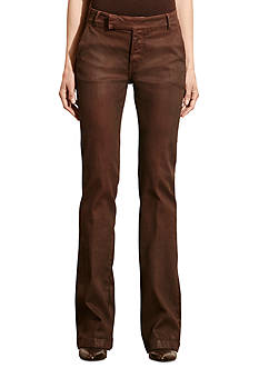 Lauren Jeans Co. Waxed Flared Pant