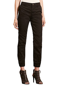 Lauren Jeans Co. Twill Tapered-Leg Pants