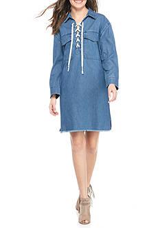 Joe's Eveline Denim Lace Up Dress