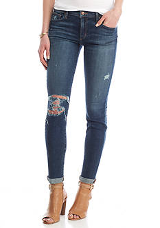 Joe's Rolled Hem Destroyed Crop Jeans