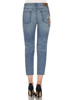 Joe's Embroidered High Rise Crop Jean