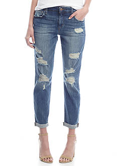 Joe's Kency Roll Cuff Destroyed Boyfriend Jean