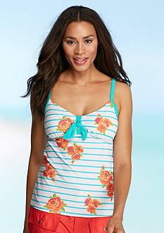 Kim Rogers Garden Stripe Over The Shoulder Tankini
