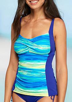 Kim Rogers Seascape Twist Bra Tankini