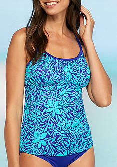 Kim Rogers Tossed Petal Shirred Tankini