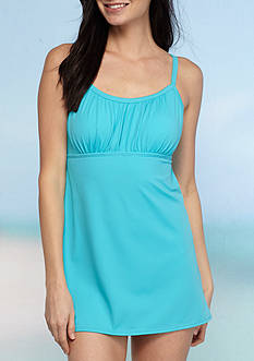 Kim Rogers Solid Peasant Swimdress