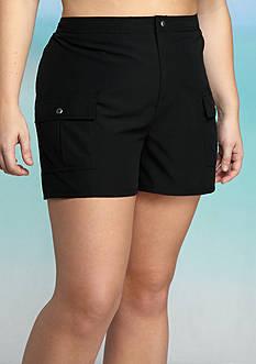 Kim Rogers Plus Size Board Swim Shorts