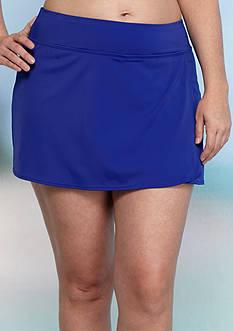Kim Rogers Plus Size Solid Skort Swim Bottom
