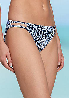 MICHAEL Michael Kors Thora Leopard Double Strap Swim Bottom