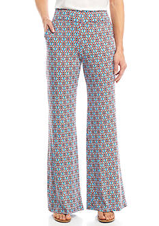 New Directions Medallion Tile Print Soft Pants