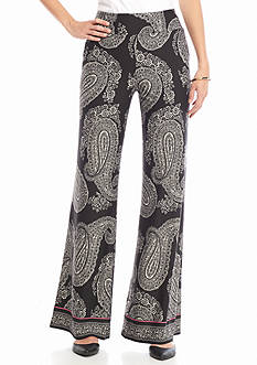 New Directions Printed Wide Leg Soft Pant