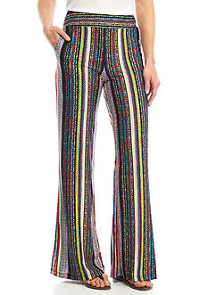 New Directions Multi Stripe Print Soft Pants