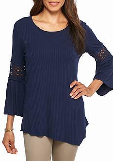 New Directions Crochet Bell Sleeve Top