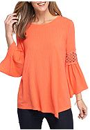 New Directions® Crochet Bell Sleeve Top