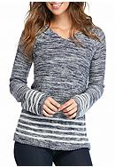 New Directions® Stripe Space Dye Sweater