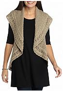 New Directions® Heathered Yarn Circular Vest