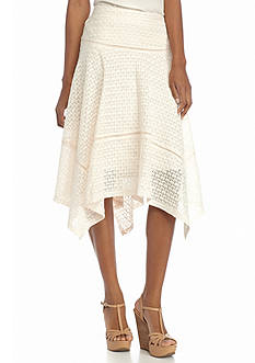New Directions® Lace Hanky Hem Skirt